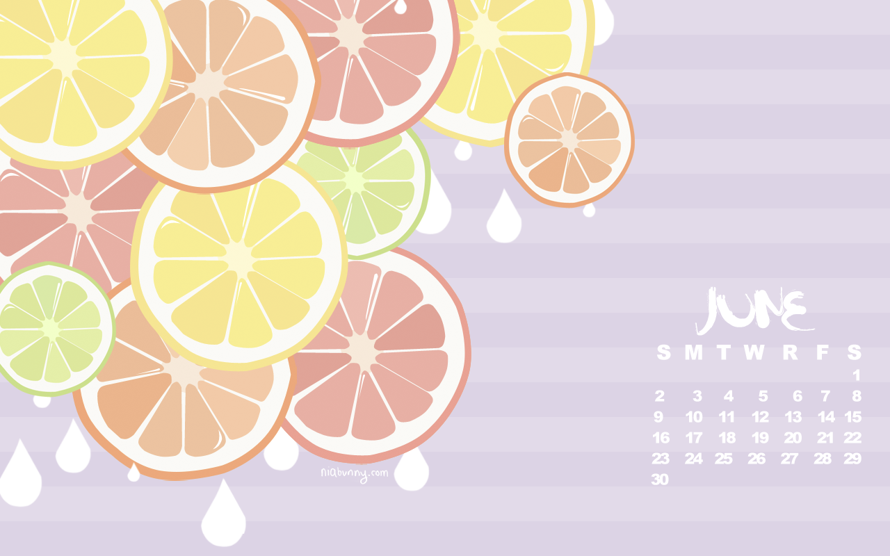 Cute July wallpaper of yummy Citrus Fruits