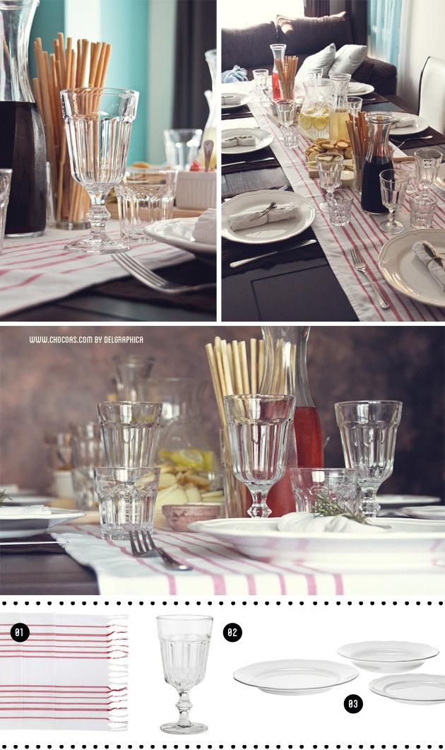 decoración mesa - fiesta toscana