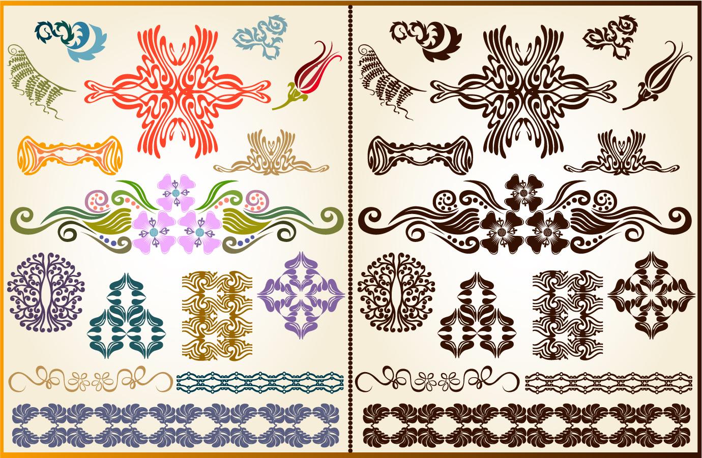 美しいコーナー パターン素材 beautiful corner pattern material イラスト素材