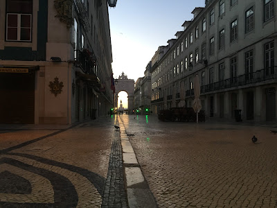 Rua Augusta in the morning, Lisbon