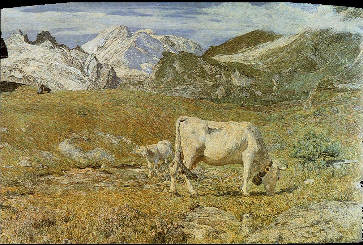 Pascoli di primavera, Giovanni Segantini (1896)