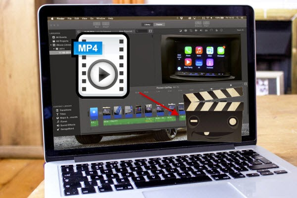 import MP4 into iMovie on Mac