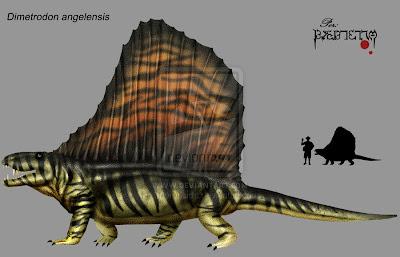 reptiles del permico Dimetrodon