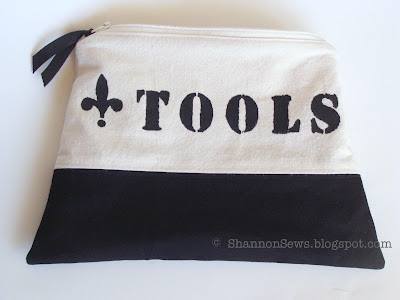 Zippered Lined Tool Pouch Completed - front view