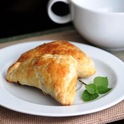 Puff pastries, delicious savoury snack with SPICES