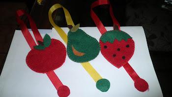 Marcador de páginas Frutas.