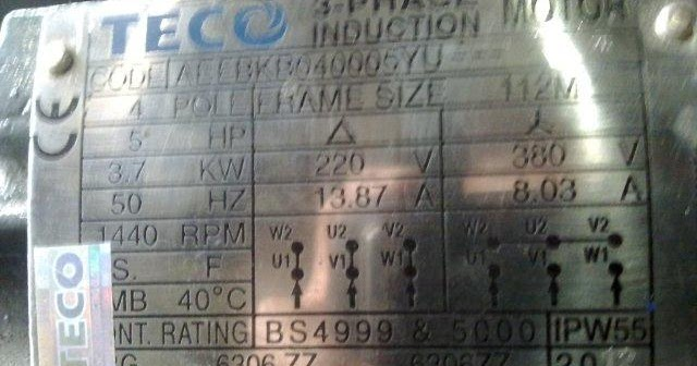 Electrical Power Engineering  How To Read Motor Nameplate