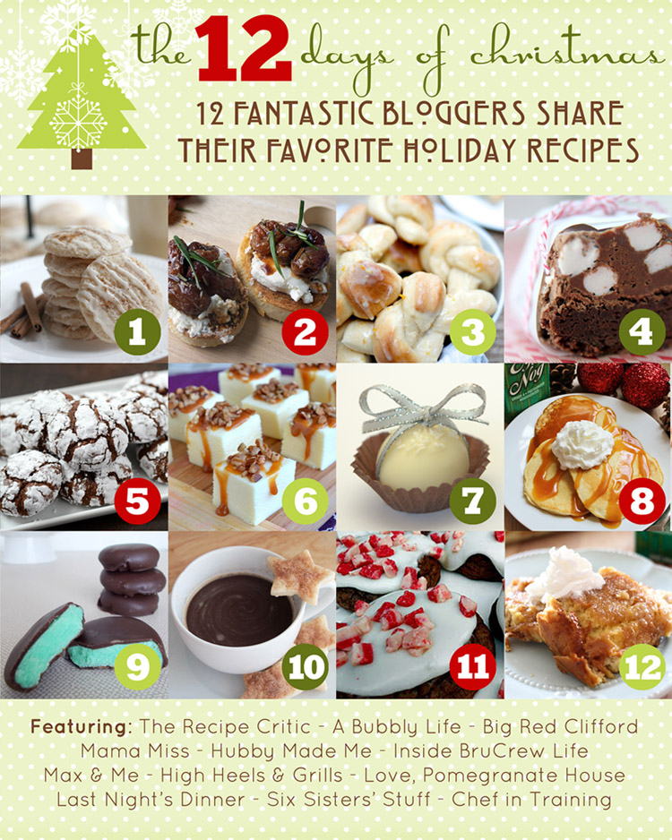 The 12 Days Of Christmas Recipe Ideas Chef In Training