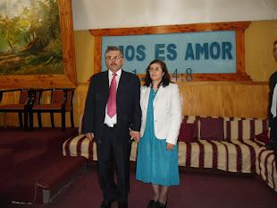 Pastor Egon Vargas Rivera y su amada esposa Pastora Herminia Sumelzu