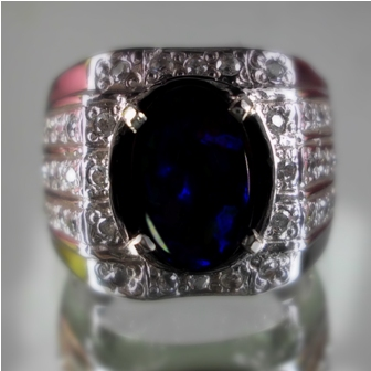 Kode : [LP211] Gemstone : Natural Black Opal Kalimaya Dimention : est