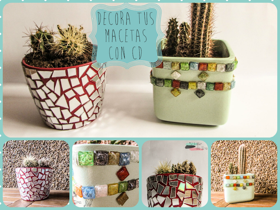5 ideas para decorar con teselas de cds manualidades for Decora tu casa con cosas recicladas
