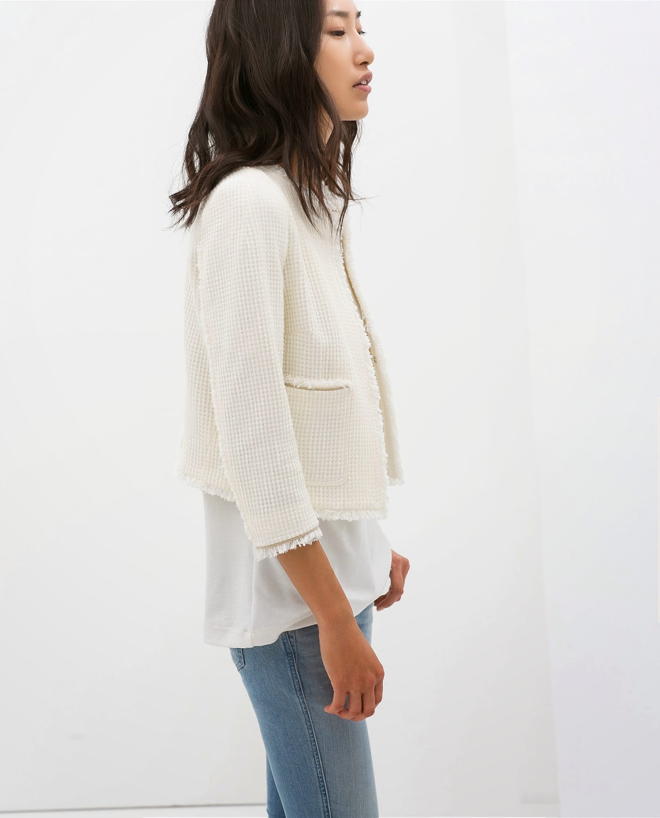 Chaqueta chanel Zara, Blanco y jeans, street style, look, fashion style