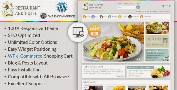 Free 4u download themes wordpress restaurant wp e commerce theme is specially designed for restaurant food and hotel stores great colors combination all sub pages are customized forumfinder Choice Image