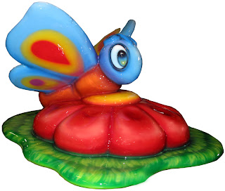 soft sculpted foam play playground equipment custom themed children toddler airport terminal  shopping center food court museum church ministries International Play Company Iplayco butterfly