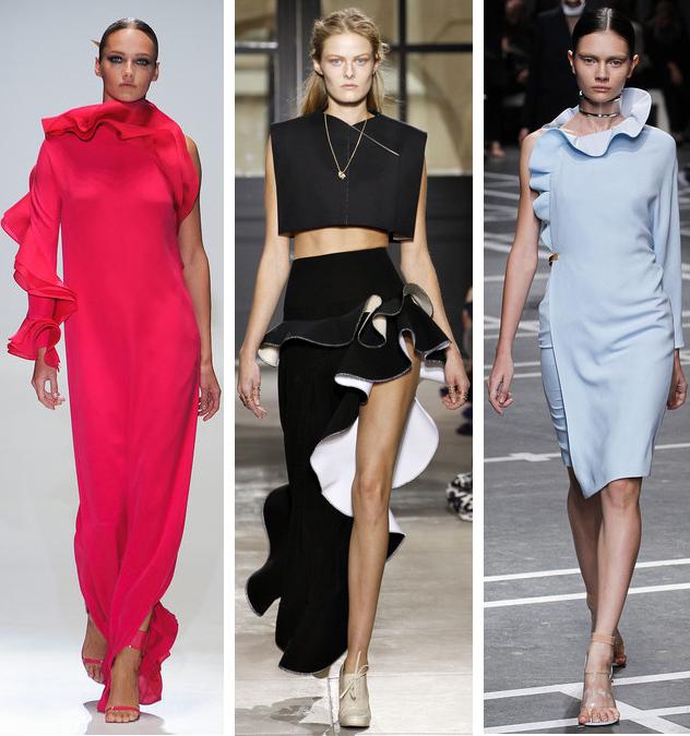 Spring 2013 Ruffles Trend: Gucci// Balenciaga// Givenchy
