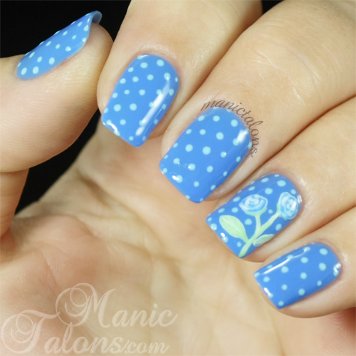 Dots and Roses Manicure with Akzéntz Luxio