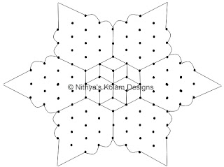 3 Diwali Kolam with interlocked dots