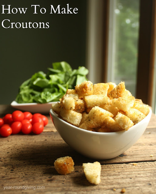 How to make croutons: Recipe