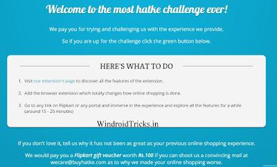 buyhatke challenge for flipkart voucher