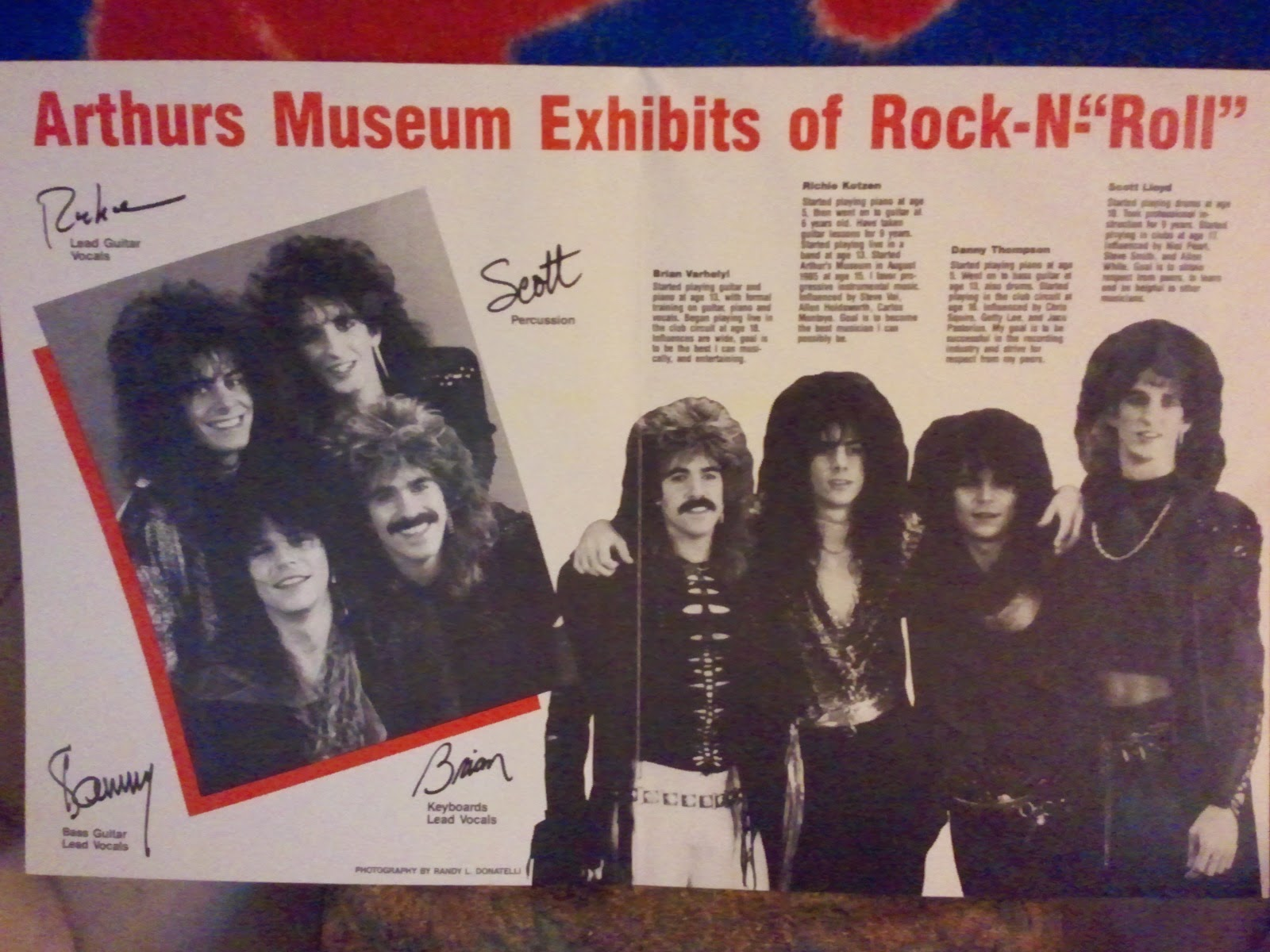 Arthurs museum Inside bio signed