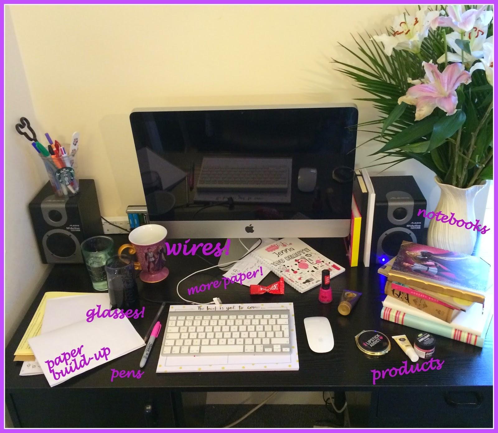 real-blogger-desk-mess