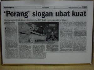 kEMENTERIAN KESIHATAN MALAYSIA (KKM-MOH,Ministry of Health Malaysia) PERANG SLOGAN UBAT KUAT