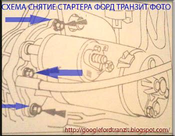 СХЕМА СНЯТИЯ СТАРТЕРА ФОРД ТРАНЗИТ ФОТО