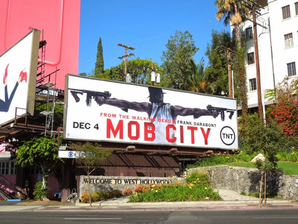 Mob City series premiere billboard