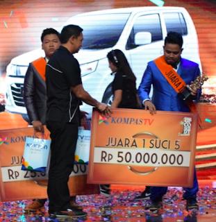 Rigen pemenang suci 5, Rahmet juara 2 suci 5 dan Indra Juara 3 suci 5 kompas TV