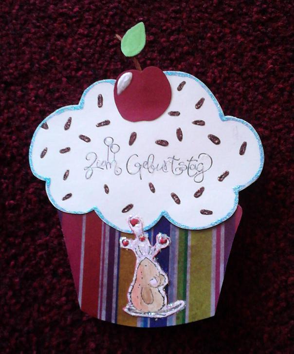 sonny s bastelspa cupcake karte. Black Bedroom Furniture Sets. Home Design Ideas