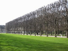 Luxembourg gardens in autumn