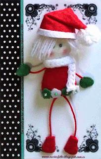 Susies, Kokis, Christmas, broches, fieltro, muñecas,  handmade