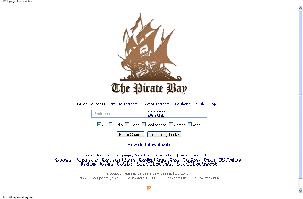 the pirates bay  software