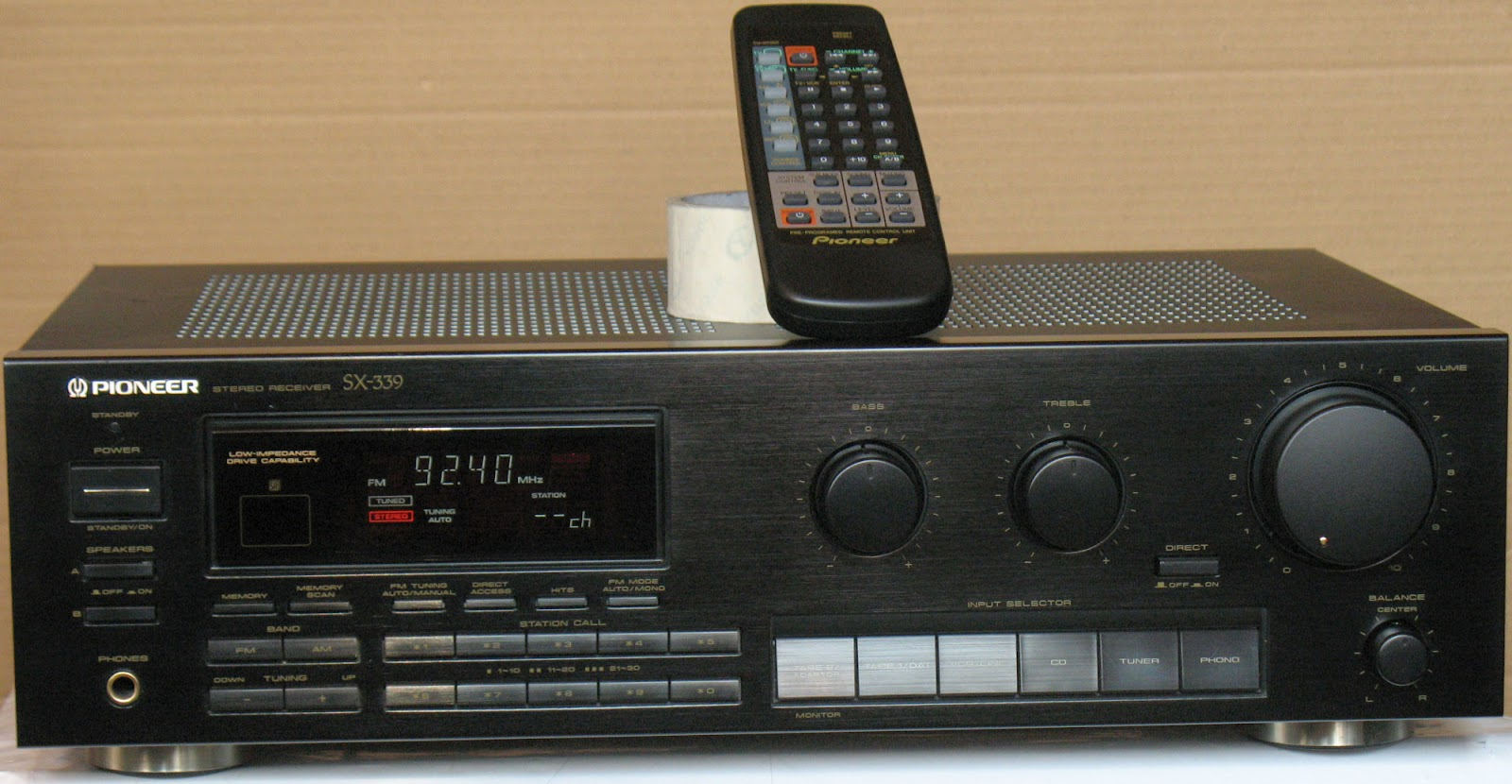 Pioneer Sx 339 Stereo Receiver Audiobaza
