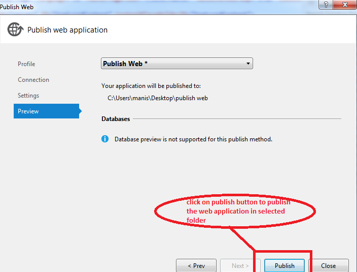 publish project in visual studio 2012