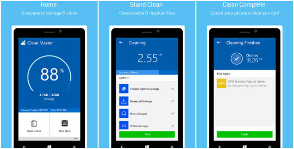 Clean Master for Windows 10 Mobile, an app to speed up your device ...