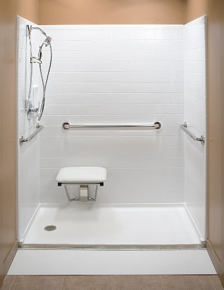 Handicap shower stalls for limited mobility person shower for Shower stall remodel