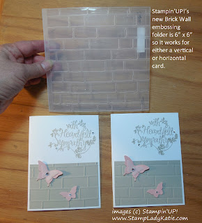 2 ways to use Stampin'UP!'s new Brick Wall embossing folder