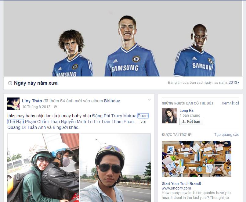 Ngày này năm xưa facebook