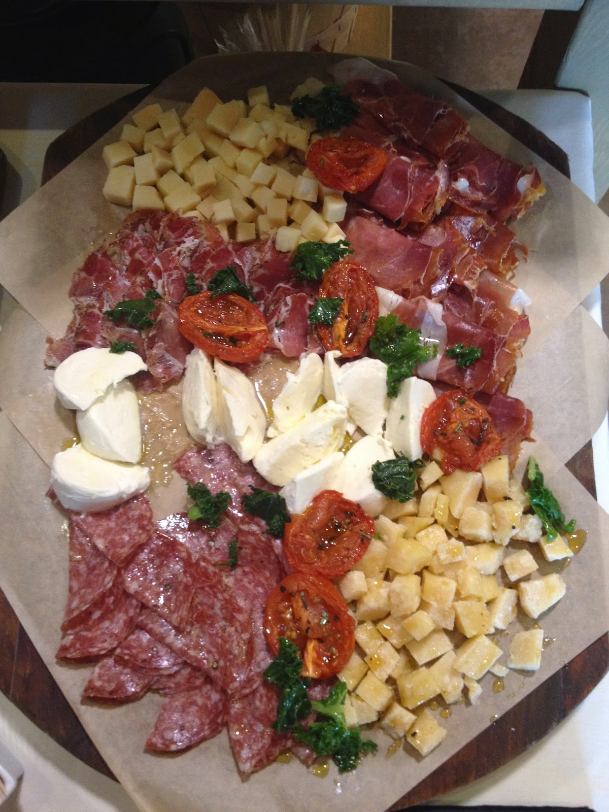 Antipasti served with sicilian wines