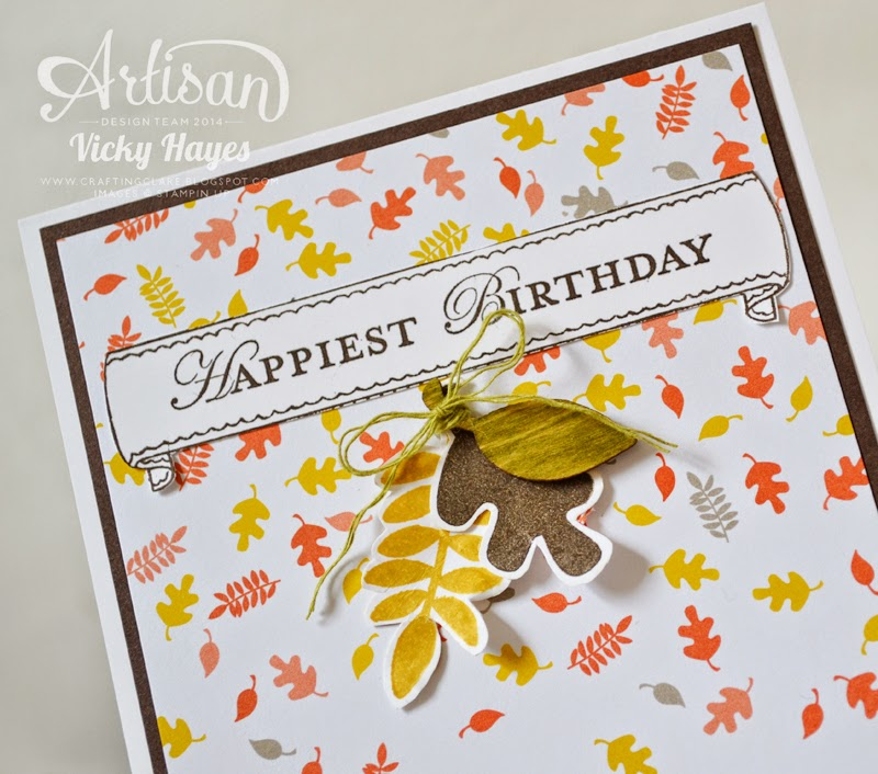 How to make a leaf cluster with products from the new autumn winter Stampin' Up catalogue