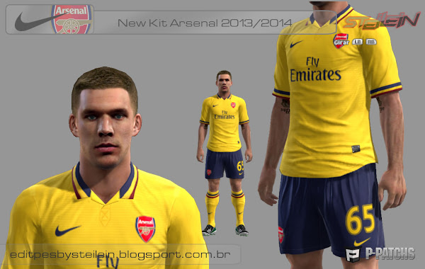 PES 2013 Arsenal FC 2013 Away Kit by Steilein