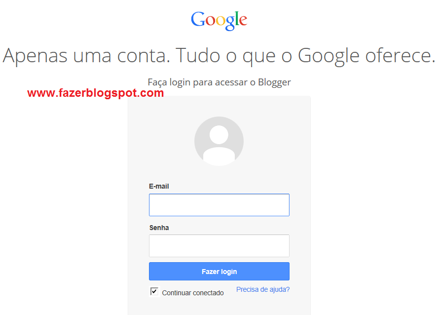 Acessar site do Blogger com Gmail