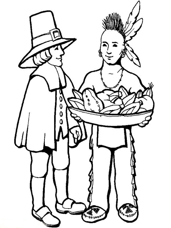 Native American Coloring Sheet