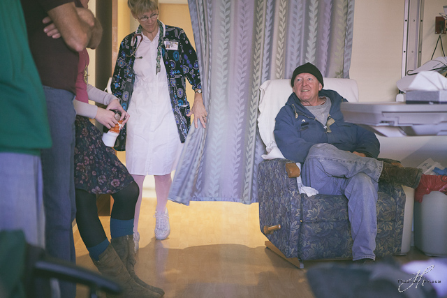 Beloit Kansas - family waiting, nurse checking in on hospital room