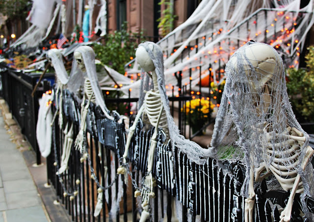 Halloween decorations in America