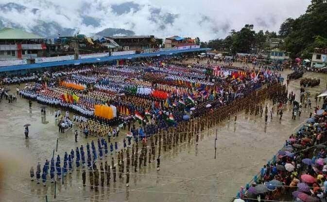 Independence Day celebration in kalimpong mela ground