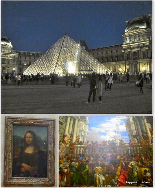 Louvre museum and paintings Paris