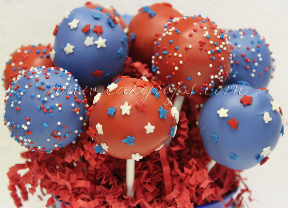 Candy's Cake Pops: Fourth Of July Cake Pops