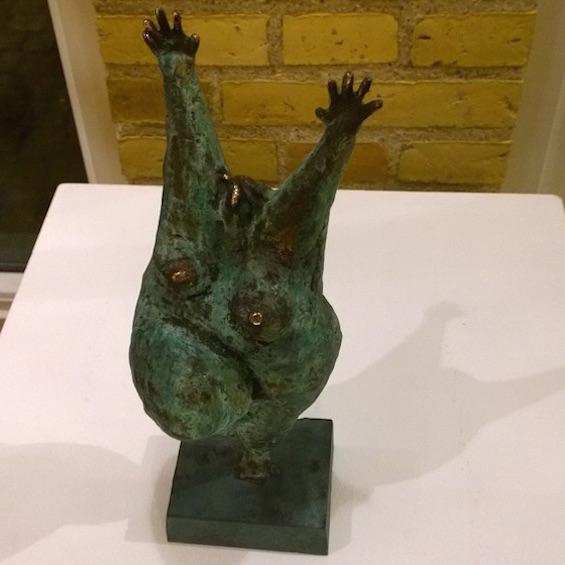 Bronzeskulptur af Henrik Fischer